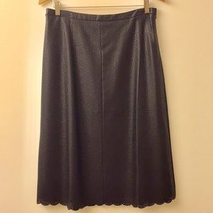 Faux leather skirt!